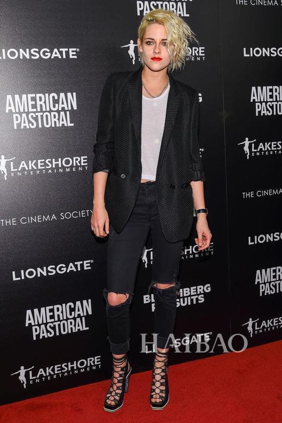 克里斯汀·斯图尔特 (Kristen Stewart) 时间:10月20日事件:《美国牧歌》纽约点映式