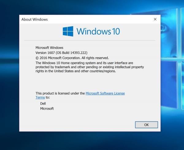 微软正式发布Windows 10 Build 14393.222累积更新的照片 - 2