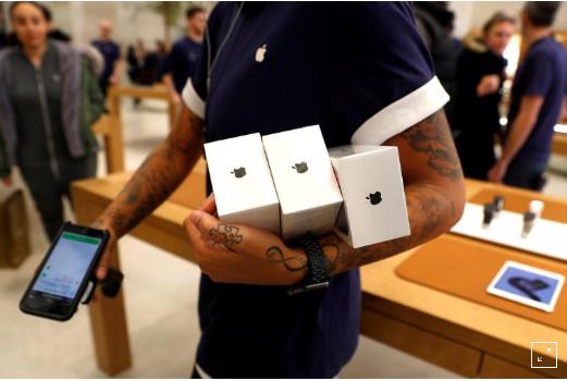iPhone X销量令人失望 苹果股价周五大跌4.34%