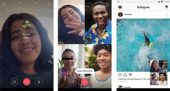紧随苹果iOS 12:Instagram推出视频群聊功能