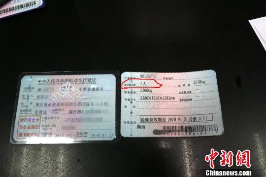 图为:伪造的行驶证 李巍 摄