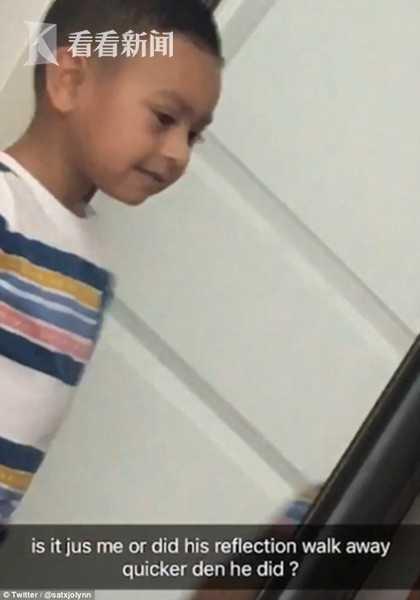 小男孩照镜做鬼脸出现灵异一幕:镜中人转身比他快