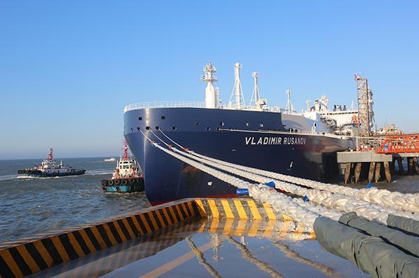 北极天然气来了:中国首船亚马尔LNG运抵江苏