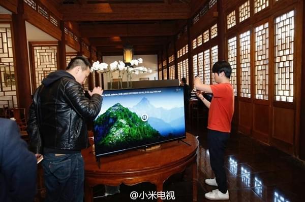 小米电视4国内首次亮相:4K/无边框/超薄