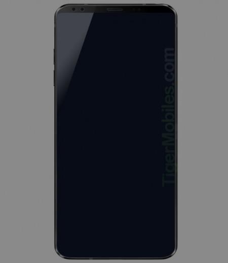 疑似LG G7渲染图曝光:边框更窄 前置双摄
