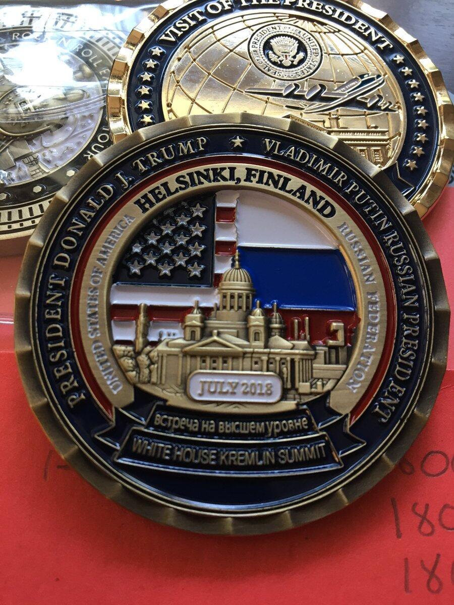 白宫发行特普会纪念币:价值100美元 无领导人头像