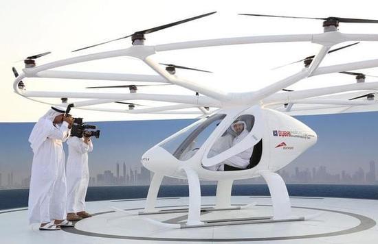 迪拜飞行出租车来啦!土豪以后打飞的上班