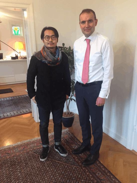 张长晓受冰岛总统接见 感谢推广冰岛音乐