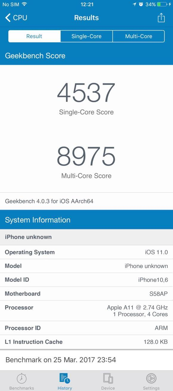 iPhone 8跑分成绩吊打Android旗舰?那图是假的