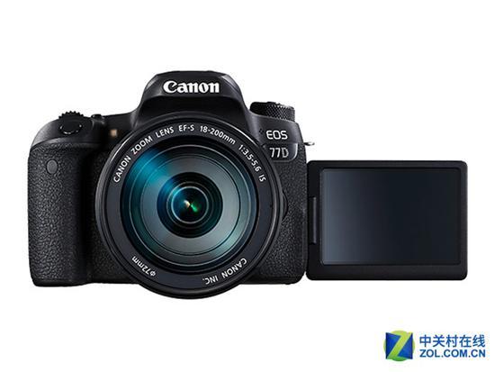 搭载18-200mm镜头 佳能77D套机送配件