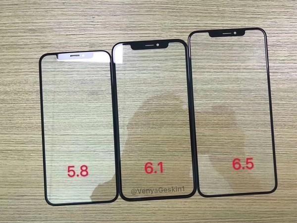 三款iPhe的前面板