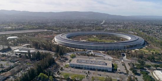 施工现场组图曝光:苹果飞船总部几近完工