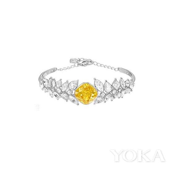 施华洛世奇黄水晶白水晶手镯,¥1,330.00。
