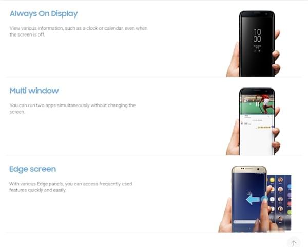 三星官网偷跑Galaxy S8说明书:海量新功能确认的照片 - 3