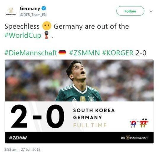 世界网友喜闻德国被淘汰 墨西哥球迷:国歌可以换成《江南style》