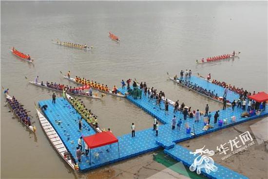 2017中华龙舟大赛(重庆合川站)17日正式挥桨 奖金总额高达80万元