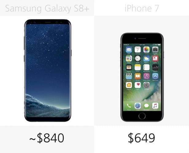 Galaxy S8+和iPhone 7规格参数对比的照片 - 36