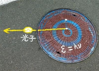 """物理公式被涂鸦井盖上 媒体:是""""践踏""""科学?"""