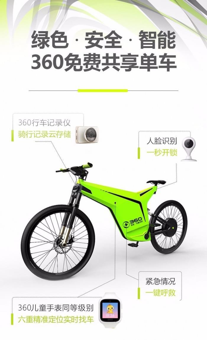 [4.1]360发布免费共享单车
