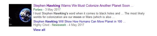 霍金警告不要登月?中文媒体又丢人了