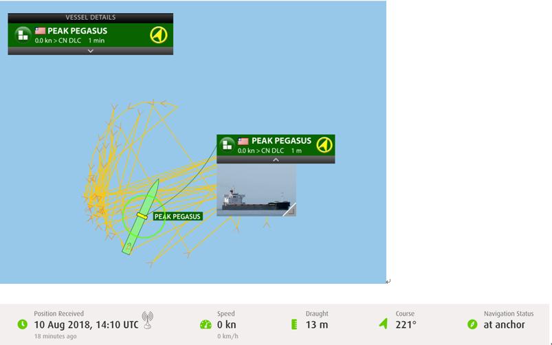 海上绕圈美国大豆船:一直在大连海域等待进港卸货