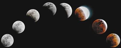 """举头望""""红""""月 天涯共此""""食"""""""