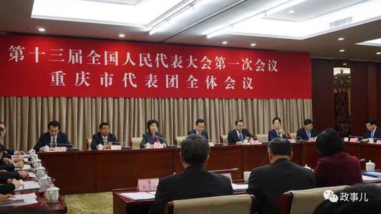 重庆代表团召开全体会议 陈敏尔谈薄熙来和孙政才