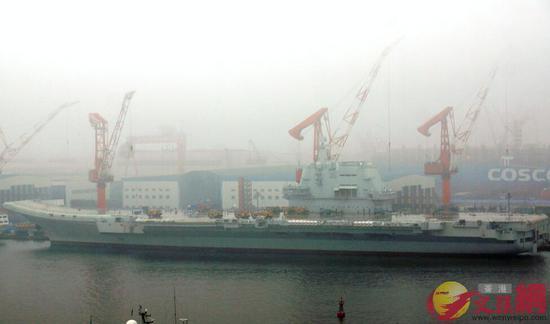 中国首艘国产航母今日或海试 多艘拖船已集结就位_WWW.NIUBIBA.COM