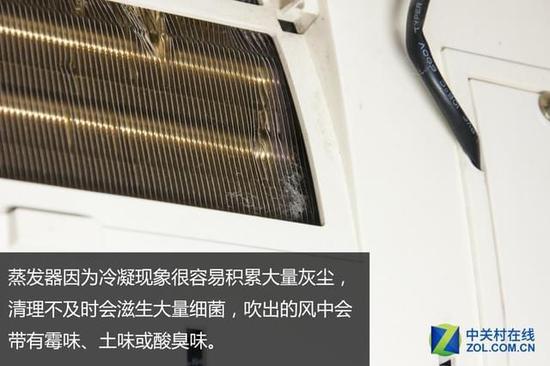 虽然从结构上看来,空调内部本应该非常干净,但实际因为滤网的孔径较