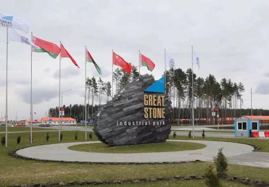 """▲位于白俄罗斯首都明斯克郊区的""""巨石""""中白工业园。"""