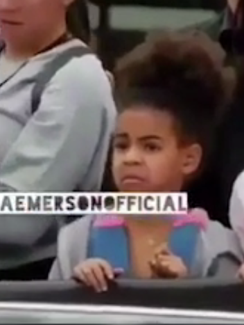碧昂斯JAY-Z演床戏 女儿blue看到一脸震惊直捂脸