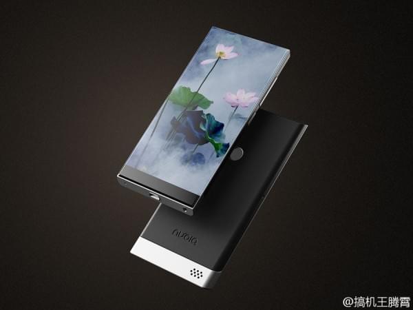 努比亚滑盖无边框手机概念图亮相的照片 - 3