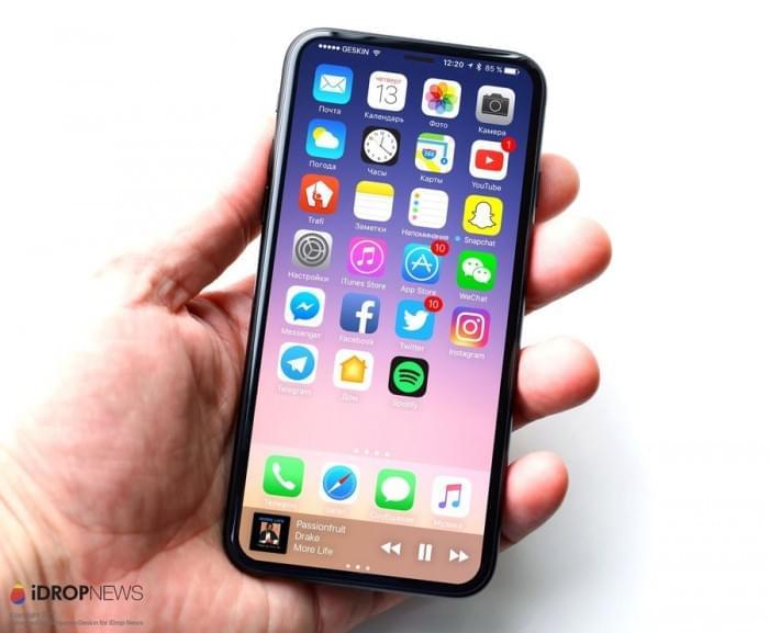 基于真实设计图的iPhone 8渲染图:屏占比可和S8一较高下的照片 - 1