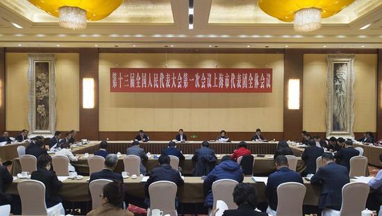 全国人大上海代表团组团 推举殷一璀为团长