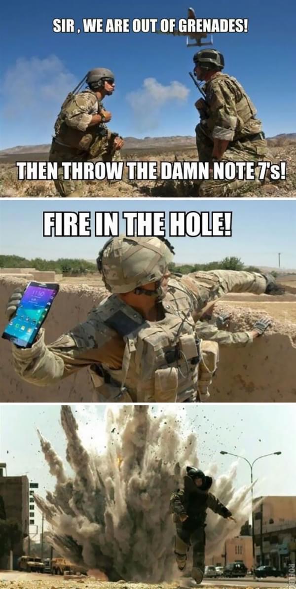 Note 7电池爆炸事件频发 全球网友奋力恶搞的照片 - 11