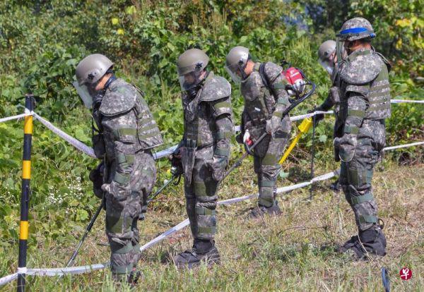 扫清韩朝军事分界线地雷要200年 扫雷器材亟待更新