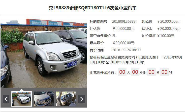 不摇号购京牌车!北京57辆小客车法拍 你有资格吗