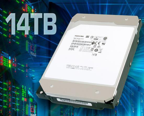 东芝发布世界首款14TB传统磁记录技术硬盘