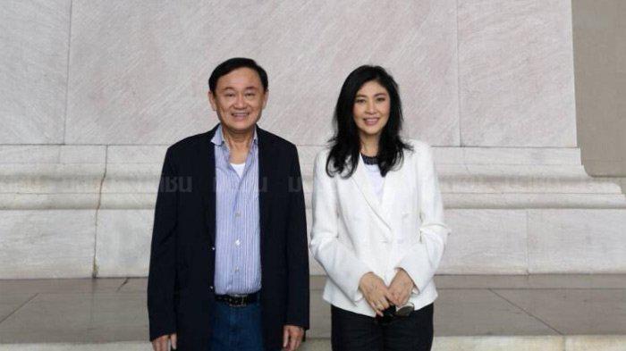 英拉与他信现身美国 泰国警方:正在调查