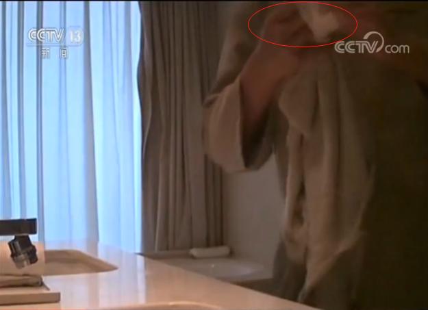 五星級酒店衛生亂象爆料人上央視 亮出偷拍機器