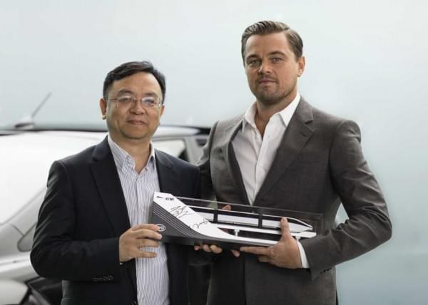 小李子又有新工作 成为比亚迪新能源车中国地区代言人的照片