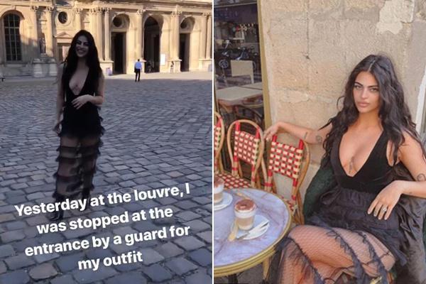 澳网红穿着暴露被禁止参观卢浮宫 保安:找东西遮体