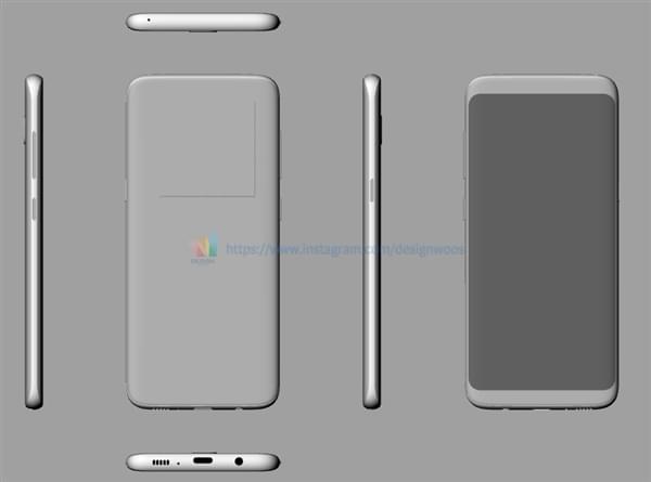 三星Galaxy S8新模型图曝光:超高屏占比极窄边框的照片 - 1