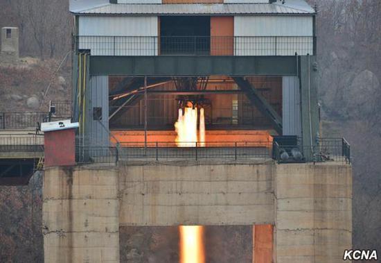朝鲜进行火箭发动机点火试验 联合国回应