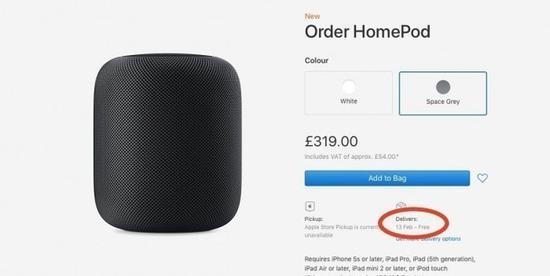 苹果HomePod已发售 英国用户表示等不及