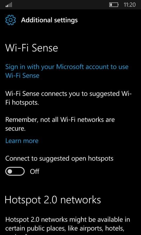 Windows 10红石2移动版采用类似PC版的Wi-Fi设置界面的照片 - 2