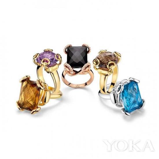 彩宝戒指。
