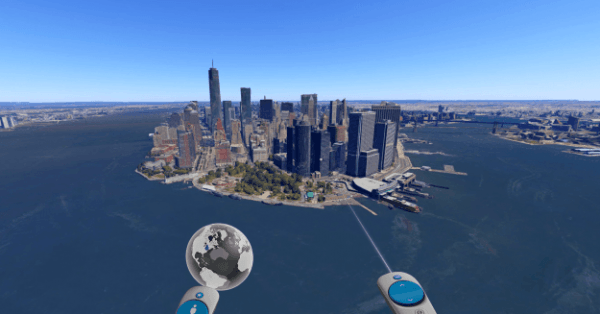 谷歌Google Earth VR配戴VR设备就能领略世界美景的照片 - 2