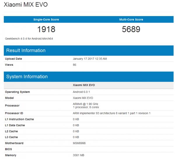 小米Mix Evo亮相:配高通骁龙835处理器的照片 - 2