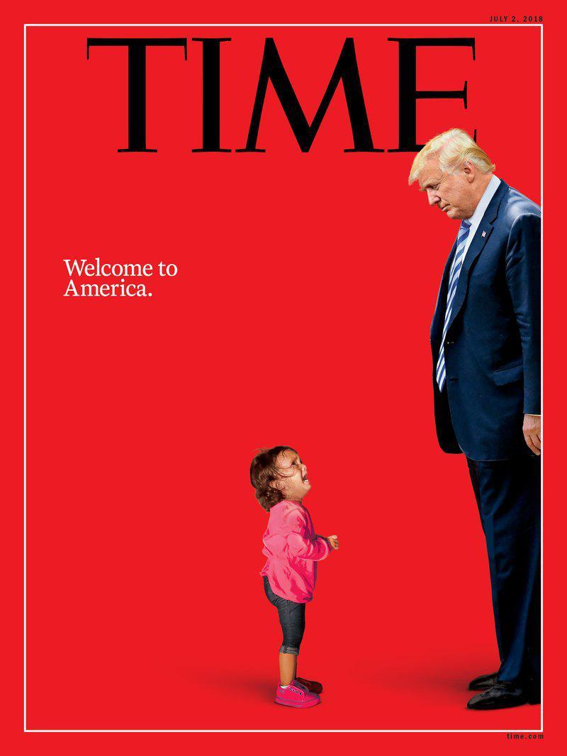 时代周刊新封面引存眷 犯科移民女童朝特朗普大哭